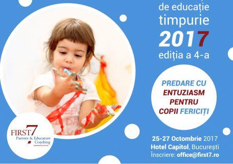 """Conferința de educație timpurie """"Educație cu entuziasm pentru copii fericiți"""", 25-27 octombrie, București"""